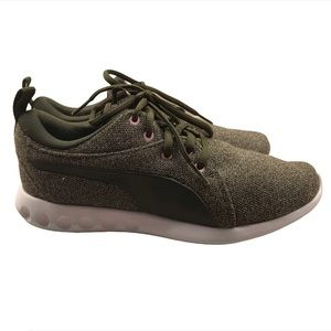 PUMA Carson Knit Forest Night Green Running Shoes